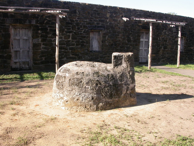 Oven in front of Indian quarters